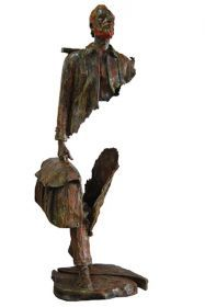 A Bronze sculpture called 'Van Gogh au chevalet' by Bruno Catalano.
