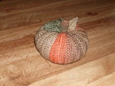 """Handmade Crocheted Harvest Pumpkin 4"""" Tall by The Knitting Gnome.. by TheKnittingGnomeVT on Etsy"""