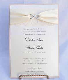 Lace Wedding Invite Invitation Vintage Infinity SymbolINFINITY