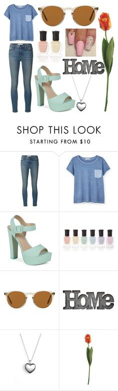 """great story"" by soidi-illis ❤ liked on Polyvore featuring Frame Denim, MANGO, Call it SPRING, Deborah Lippmann, Oliver Peoples, Dot & Bo and Pandora"