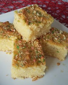 Semolina Cake (eggless) recipe by Shireen Hassim Shaik posted on 25 Jan 2017 . Recipe has a rating of by 5 members and the recipe belongs in the Cakes recipes category Eggless Recipes, Eggless Baking, Tart Recipes, Gourmet Recipes, Dessert Recipes, Halal Recipes, Desserts, Vegan Recipes, Burfi Recipe