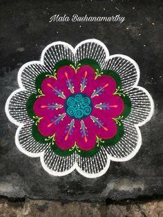 Rangoli Designs Flower, Rangoli Border Designs, Rangoli Designs Diwali, Diwali Rangoli, Rangoli Designs With Dots, Rangoli Designs Images, Beautiful Rangoli Designs, Flower Designs, Simple Flower Design