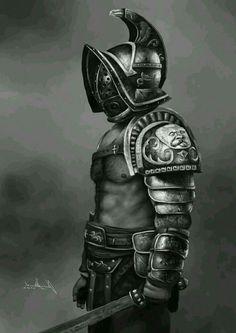 Greek Warrior, Angel Warrior, Tattoo Sleeve Designs, Sleeve Tattoos, Gladiator Tattoo, Roman Gladiators, Spartan Tattoo, Statue Tattoo, Roman Warriors