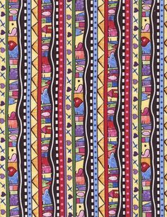 Home Sweet Home Stripe NEW ROW by ROW 2016 Timeless Treasures Quilting Fabric Buy at Tea Time Quilting $10.95 per yard