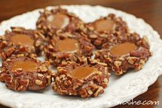 Chocolate Turtle Cookies ~ Or so she says... www.oneshetwoshe.com
