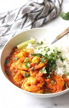 Tomato & Shrimp Curry recipe by SeasonWithSpice.com