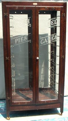 Bakery Pie and Cake Display Case, BRASS LANTERN ANTIQUES