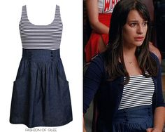 Rachel Berry's nautical dress from Glee's 2x03. It actually looks easy to make.