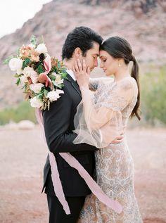 Dreamy desert elopement shoot in Las Vegas