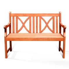Softcross 2-Seater Eucalyptus Wood Outdoor Bench | Overstock.com Shopping - The Best Deals on Outdoor Benches