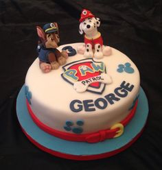 Paw Patrol Cake with hand modelled characters