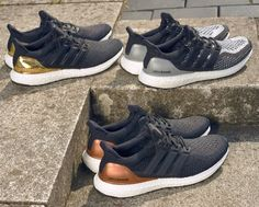 """A Fresh Look at the adidas """"Olympic Medals"""" Ultra Boost Pack - EU Kicks: Sneaker Magazine Look Adidas, Adidas Men, Adidas Boots, Adidas Sneakers, Best Sneakers, Sneakers Fashion, Adidas Ultra Boost Men, Olympic Medals, Lit Shoes"""