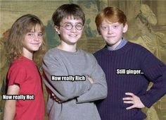 Ronald Weasley, I don't care if he is a ginger, I love him ;)