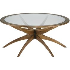 Contempo Flair Coffee Table ($2,340) ❤ liked on Polyvore featuring home, furniture, tables, accent tables and home decor