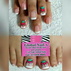 Pretty Toe Nails, Pretty Toes, Love Nails, Pedicure Designs, Toe Nail Designs, Hand Art, Toe Nail Art, Pretty Makeup, Mani Pedi