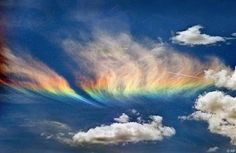 The Fire rainbow:  In Indonesia, this phenomenon had occurred in the area of ​​Napier. But how did this phenomenon happen? This phenomenon is commonly called 'Arc Circumhorizon' is actually caused by sun rays penetrate light clouds at an altitude high enough. Because the clouds are formed by hexagonal crystals, then the sun coming through a vertical surface above the crystals will leave some colors like a rainbow.