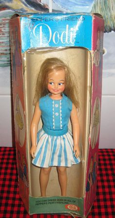1964 IDEAL USA~Peppers Friend~DODI in a BOX..Beautiful Rare Blonde Bendable DODI Sindy Doll, Vintage Barbie Dolls, Tammy Doll, Living Dolls, Vinyl Dolls, Barbie Friends, Collector Dolls, Antique Toys, Old Toys