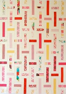 one jelly roll (plus a lot of white) makes two quilts