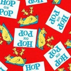 Robert Kaufman Green Eggs and Ham by Dr Seuss 13704 3 Red Sam Cotton Fabric BTY