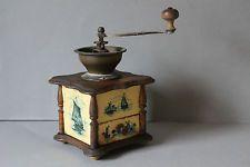 antike Kaffeemühle Zelluloidbilder Zelluloid