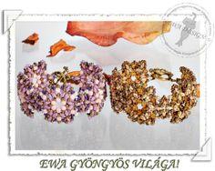 Ewa gyöngyös világa!: Samarinda karkötő / Samarinda karkötő Tutorial: http://ewagyongyosvilaga.blogspot.fr/2012/07/samarinda-karkoto-minta-samarinda.html