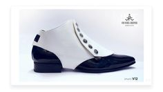 Men's white leather spats by John Patrick Chrstopher.