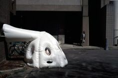 Michael Rakowitz is an artist based in New York who works in the urban realm, his most famous project being paraSITE, a series of inflatable homeless shelters that plug into the vent outlets of buildings, creating a warm and dry space for their inhabitants.