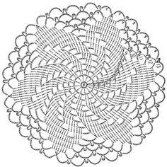 Stylish crochet doily patterns crochet art: crochet patterns of small doily VYYHWTD Art Au Crochet, Mandala Au Crochet, Free Crochet Doily Patterns, Crochet Doily Diagram, Crochet Motifs, Crochet Round, Crochet Squares, Thread Crochet, Filet Crochet