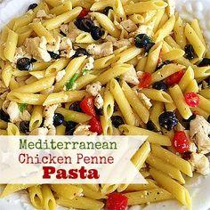 Mediterranean Penne Chicken Pasta