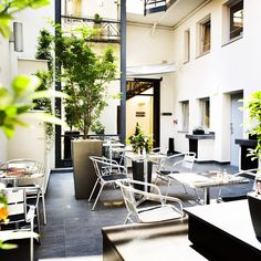 Enjoy the delicious breakfast selection of Opera Garden Hotel & Apartments on the open air courtyard.