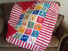 Dr. Seuss ABC quilt by GrandmaJCreations on Etsy