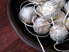 world traveler! take a map from all of the places you've visted and make into christmas ornaments... so cool!