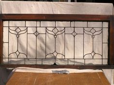 Antique Leaded Glass Window. 42 w x 19 tall, leaded with little jewels, two available, $325 each + crating + motor freight charge which varies by destination