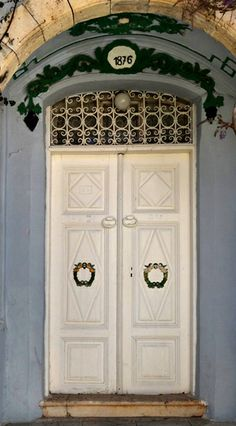 An old door  from Bozcaada (Tenedos), a small, wine maker Turkish island in Aegean Sea. Photo ©Aybige Mert