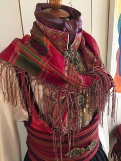 Plaid Scarf, Scandinavian, Liv, Costumes, Folklore, Traditional, Craft, Accessories, Fashion
