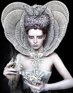 The White Queen, ruling over the forest of Wonderland. By Kirsty Mitchell.