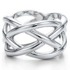 Tiffany And Co Ring Weave Silver 027