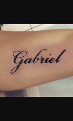 gabriel angel name tattoo designs pinterest tatouages. Black Bedroom Furniture Sets. Home Design Ideas