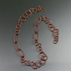 Phenomenal Copper Chain Necklaces Featured by #ILoveCopperJewelry #CopperAnniversary #MadeInSF https://www.ilovecopperjewelry.com/jewelry/necklaces.html