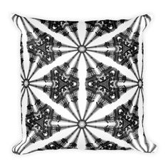 This throw pillow is printed on one side, is individually cut and sewn in California, and it comes in two sizes. The first size is square 18x18 inches (46x46 cm) and made of 80% polyester and 20% cott