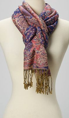 Royal Purple Paisley Pashmina Scarf