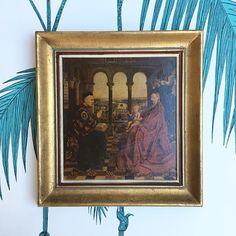 Framed Print. Van Eyck. Madonna of Chancellor Rolin. #latelierdenanah #laviiergeduchancelierrolin #janvaneyck #vaneyck #madonna #madonnaofchancellorrolin #earlynetherlandish #famousart #framedprint #masterart #master #woodframe #wallart #boudoirdecor #golddecor #artwork #goldframe #nurserydecor #frenchvintage #framedart #vintageshop #etsyshop #vintagefrance #idéecadeau #giftidea #babyshowergift