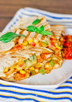 Shrimp Fiesta Quesadillas - who doesn't like delicious quesadillas? The ingredients here makes this quesadilla one of the best you'll ever try.
