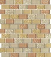 Vintrav Light Salmon 1 in. x 2 in. Glass Mosaic Tiles