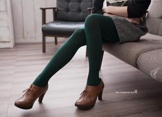 forest green tights