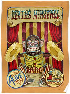 'Death's Minstrel: Jolly Chimp Sideshow Banner' Poster by darickmaasen Haunted Carnival, Creepy Circus, Creepy Carnival, Circus Art, Creepy Clown, Circus Theme, Circus Clown, Old Circus, Halloween Clown
