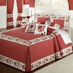 Shop Touch of Class for elegant bedspreads, comforters, and more with coordinating pillows and drapes. Get your perfect fit, from twin to California king bedding. Bed Cover Design, Bed Design, Home Design, Diy Blanket Scarf, Bed Scarf, Baseball Bed, Daybed Covers, Quilt Set, California King Bedding