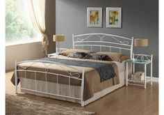 Features: Includes a frame made of straight slats on a tape Beautiful metal frame details The metal frame that gives the bed an airy look Bed Size (S Siena, Types Of Beds, Types Of Wood, Headboard Shapes, Tv Beds, Water Bed, Under Bed Storage, Mattress Covers, Adjustable Beds