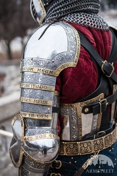 Medieval Armor Kit in Western style The King's Guard stainless steel and leather, lettering along plate seams. fantastic workmanship