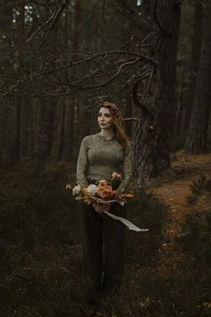 Autumn bride in long sleeved green lace top trousers by Rowanjoy of Scotland. Caro Weiss Photography Autumn bride in long sleeved green lace top trousers by Rowanjoy of Scotland. Autumn Bride, Autumn Wedding, Green Lace Top, Wedding Venue Inspiration, Wedding Ideas, Great Conversation Starters, Space Wedding, Handfasting, Woodland Wedding